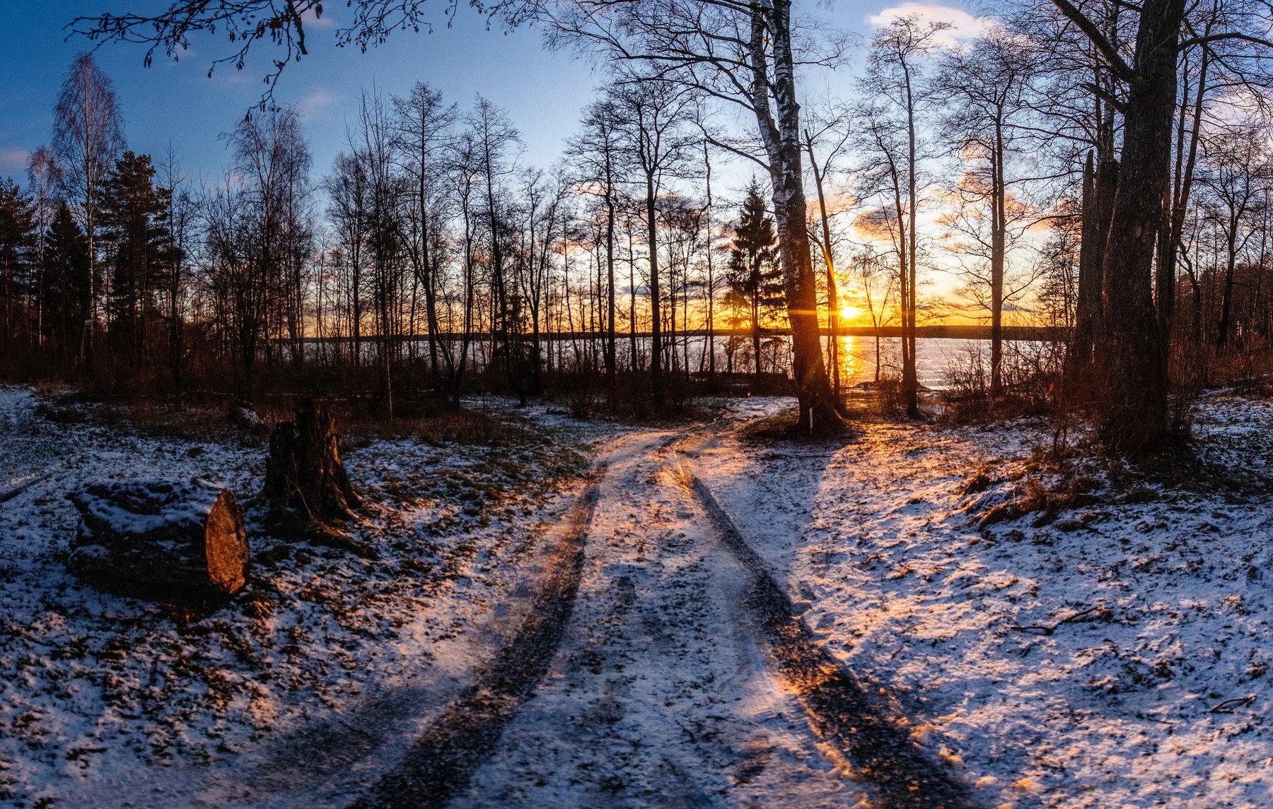 рубское озеро, декабрь, россия, ивановоская область, Воробьёв Евгений