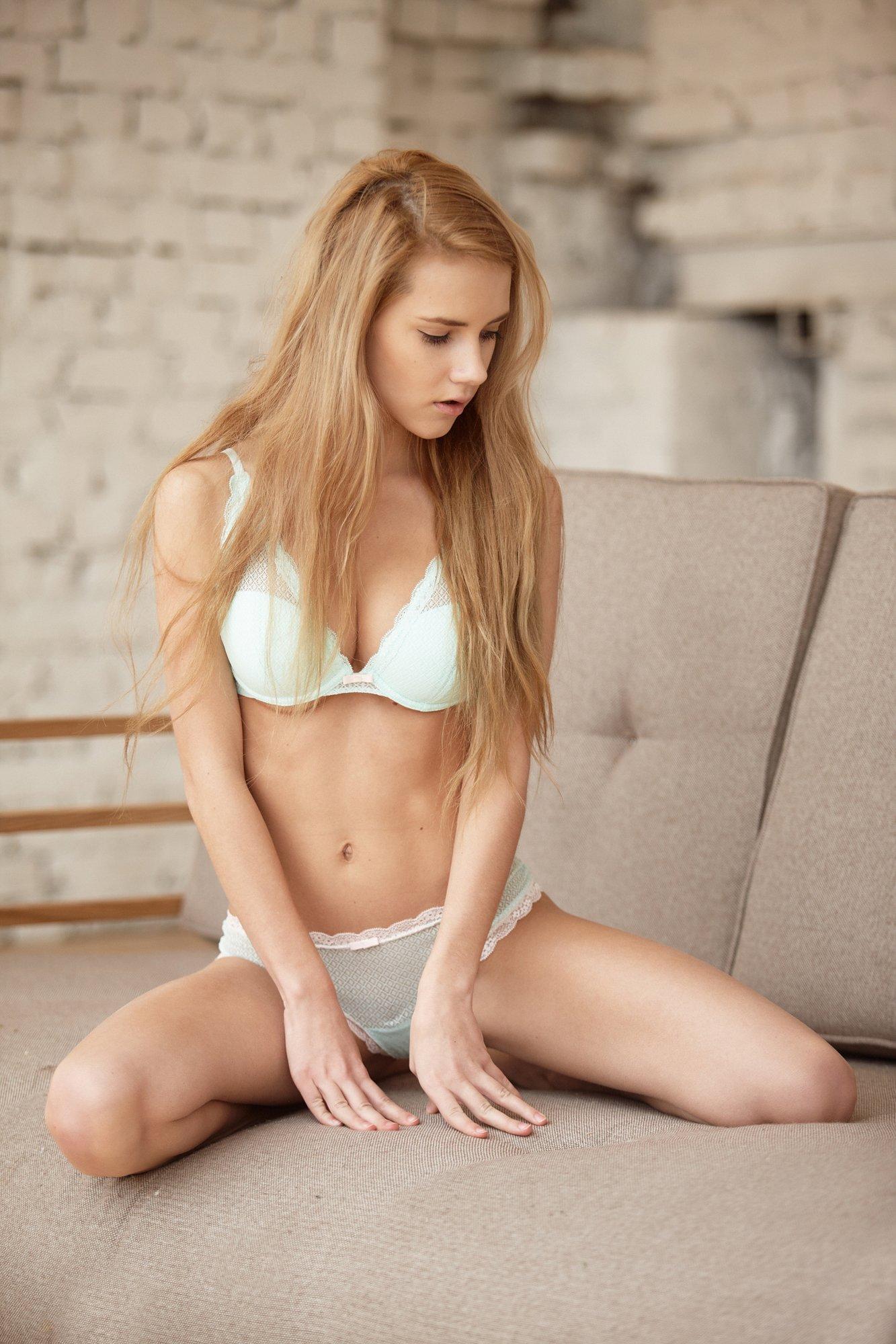 blond, young, lingerie, Алексей Цыганов