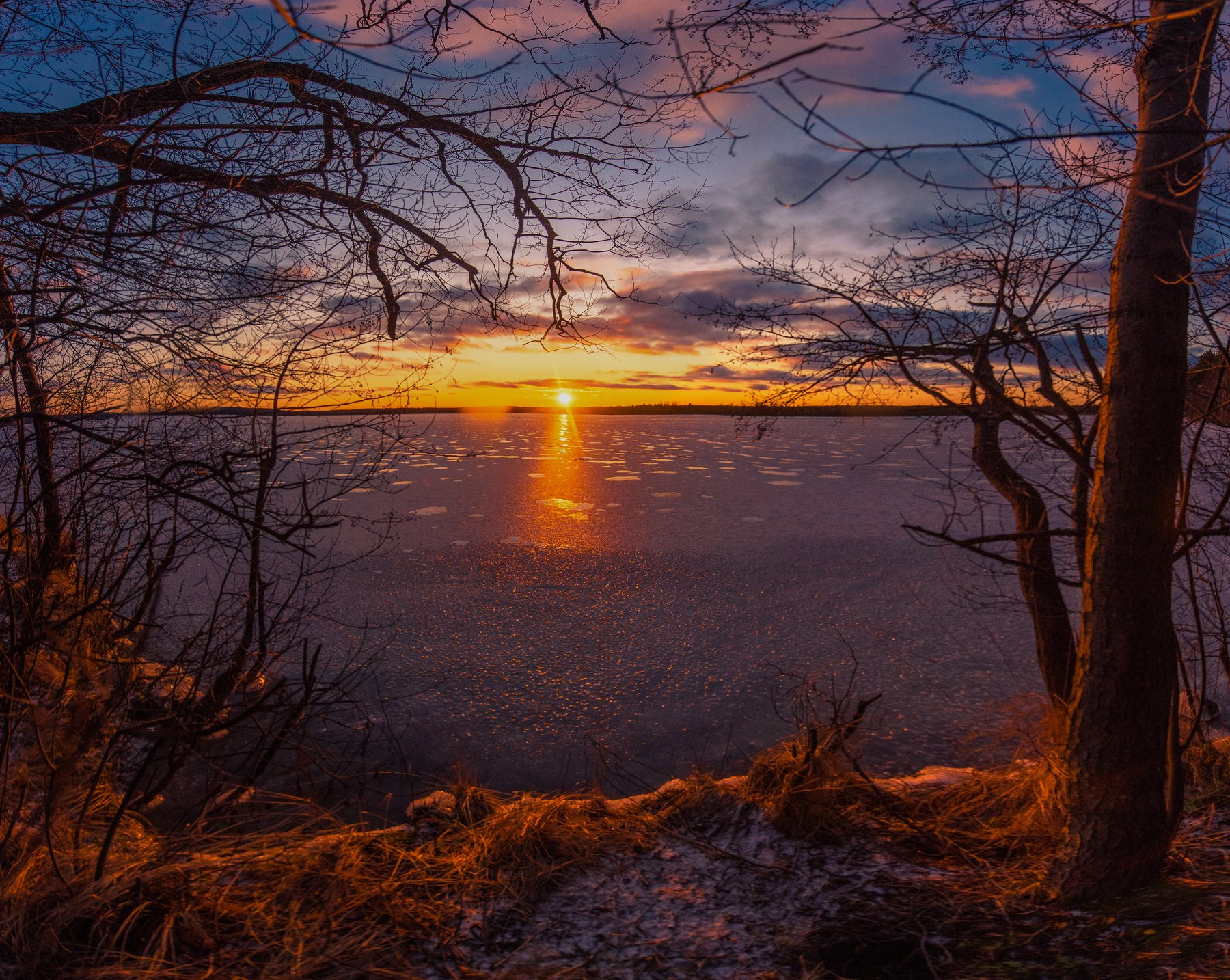закат, рубское озеро, ивановская область, Воробьёв Евгений