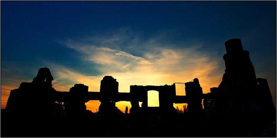 закат, руины, Yuri Mart