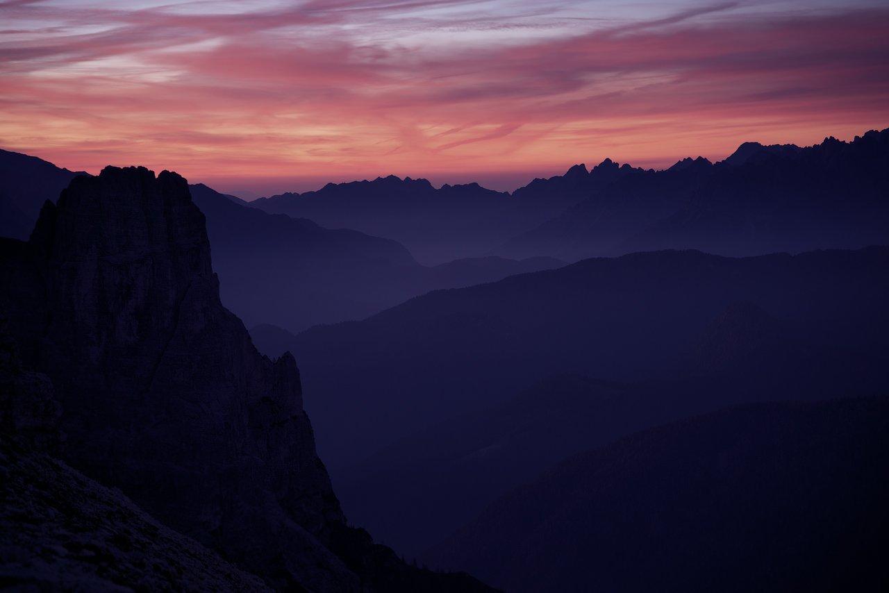 горы, альпы, доломиты, рассвет, сумерки, mountains, alps, dolomites, sunrise, dusk, Дмитрий
