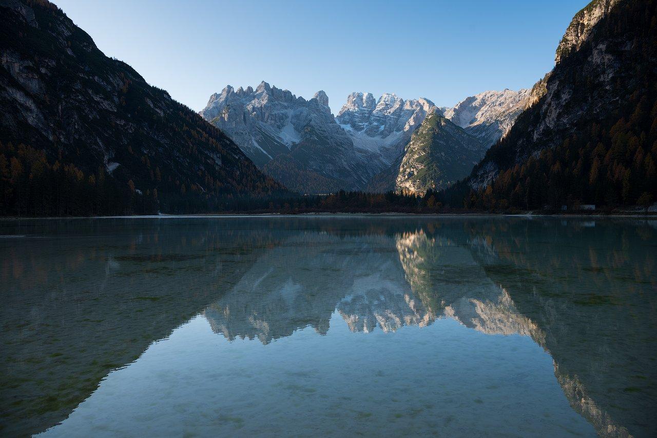 горы, альпы, доломиты, озеро, отражение, mountains, alps, dolomites, lake, reflection, Дмитрий