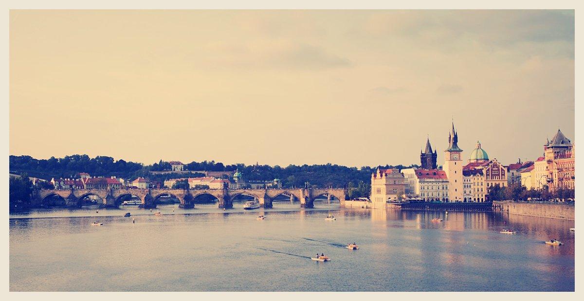 prague, praha, bridge, karlov, most, river, castle, Anton Akhmatov