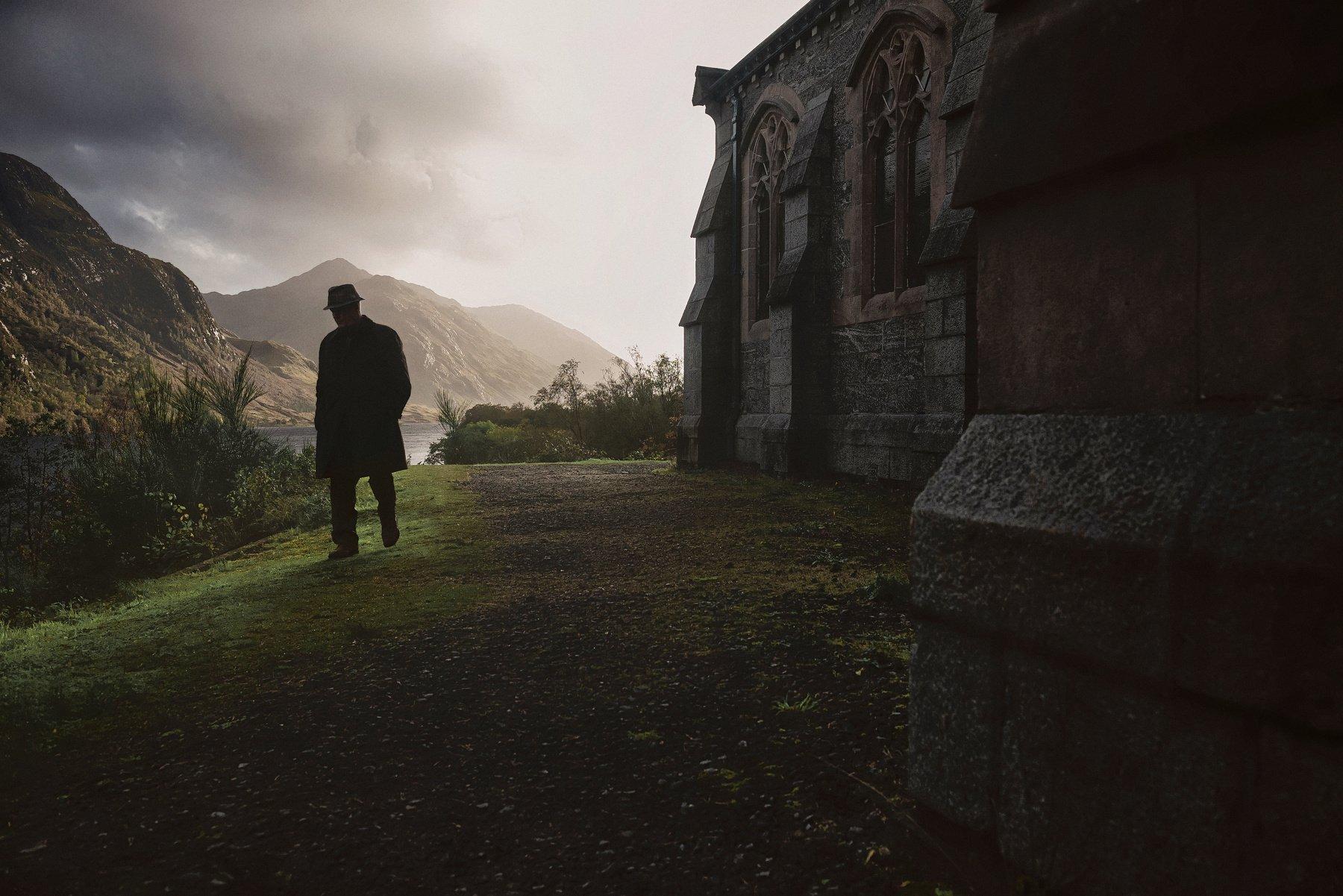 шотландия, закат, церковь, Алексей Ермаков