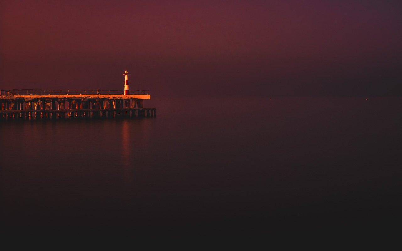закат,пейзаж,маяк,крым,алушта, Алексей Котлов