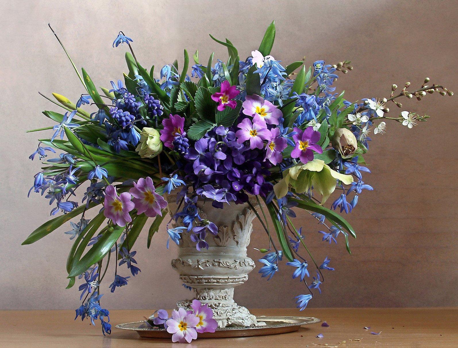 весна, натюрморт, букет цветов, первоцветы, марина филатова, Филатова Марина
