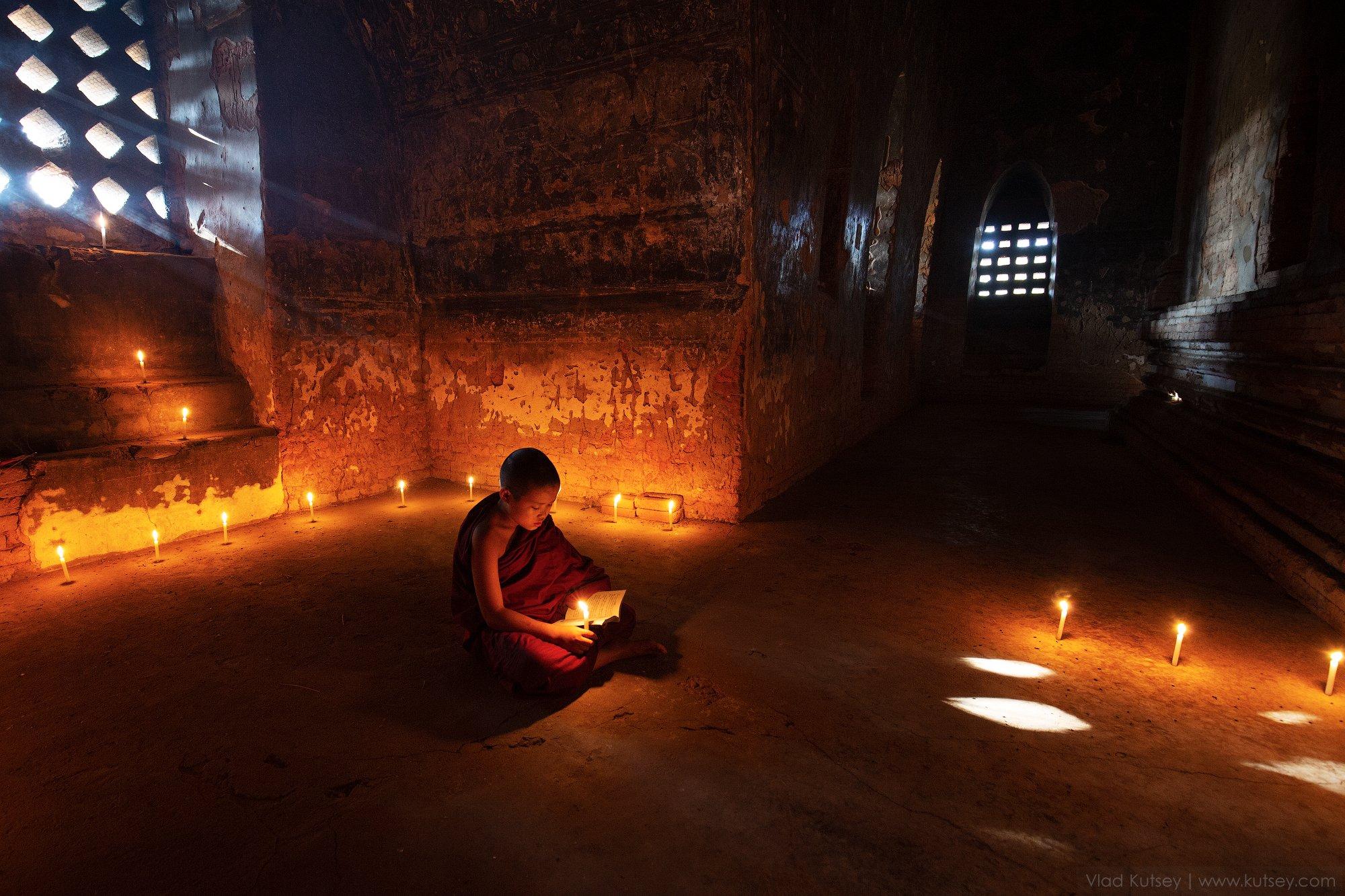 монах, мьянма, бирма, баган, храм, пагода, pagoda, temple, monk, myanmar, burma, Владимир Куцый (Vlad Kutsey)