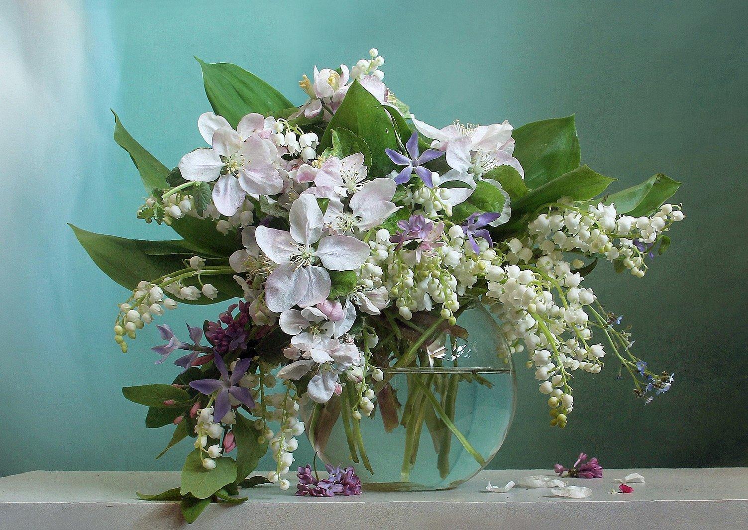 весна, натюрморт, букет цветов, ландыши, марина филатова, Филатова Марина