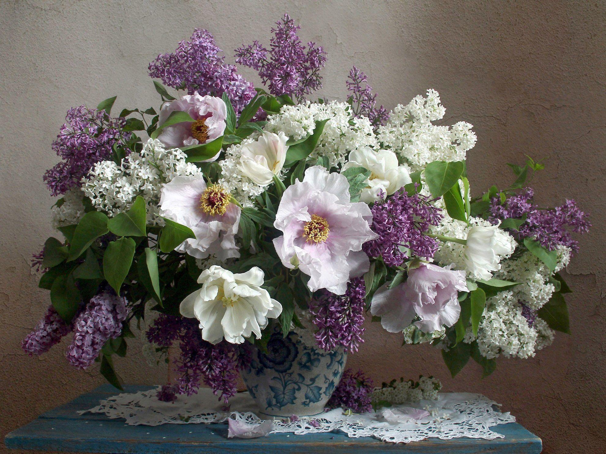 весна, натюрморт, букет цветов, сирень, пионы, марина филатова, Филатова Марина