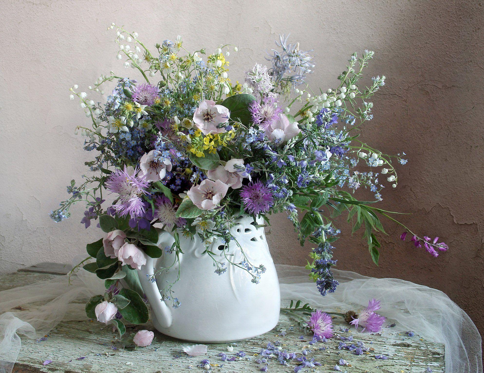 весна, натюрморт, букет цветов, незабудки, марина филатова, Филатова Марина