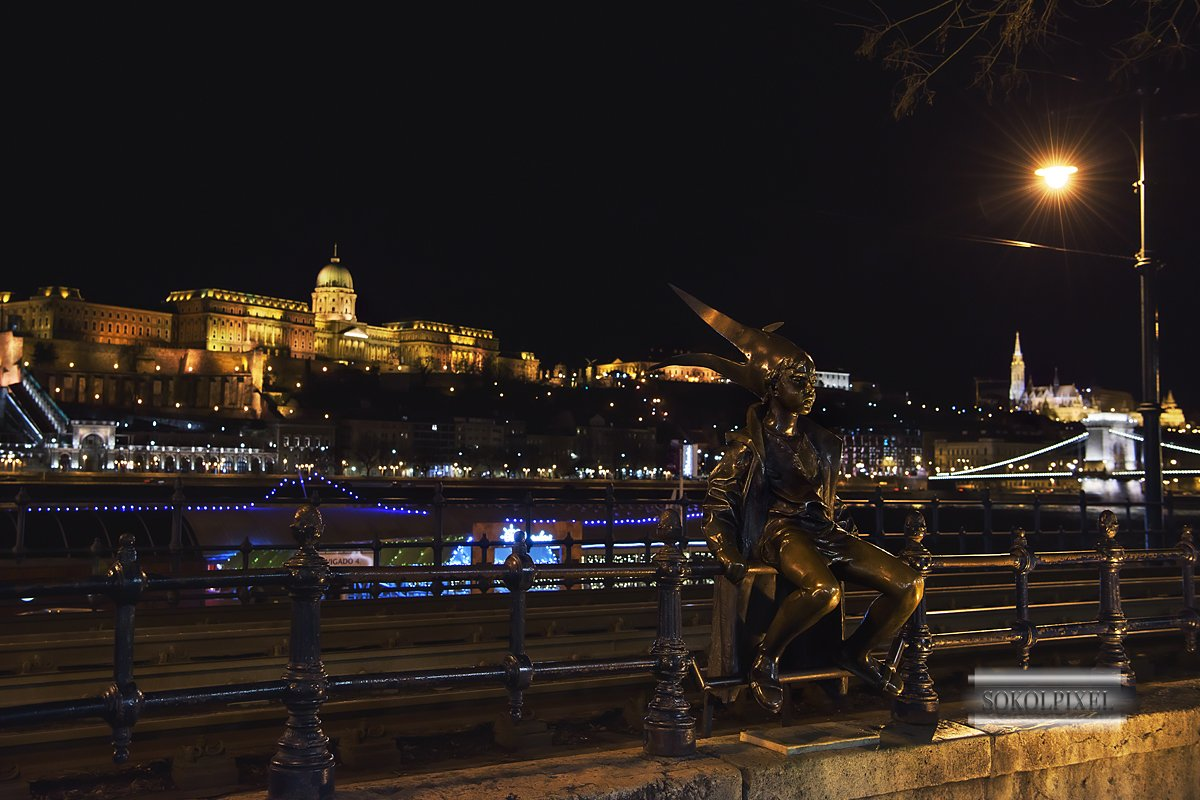 будапешт,набережная,принцесса,скульптура,ночь, Соколов Андрей