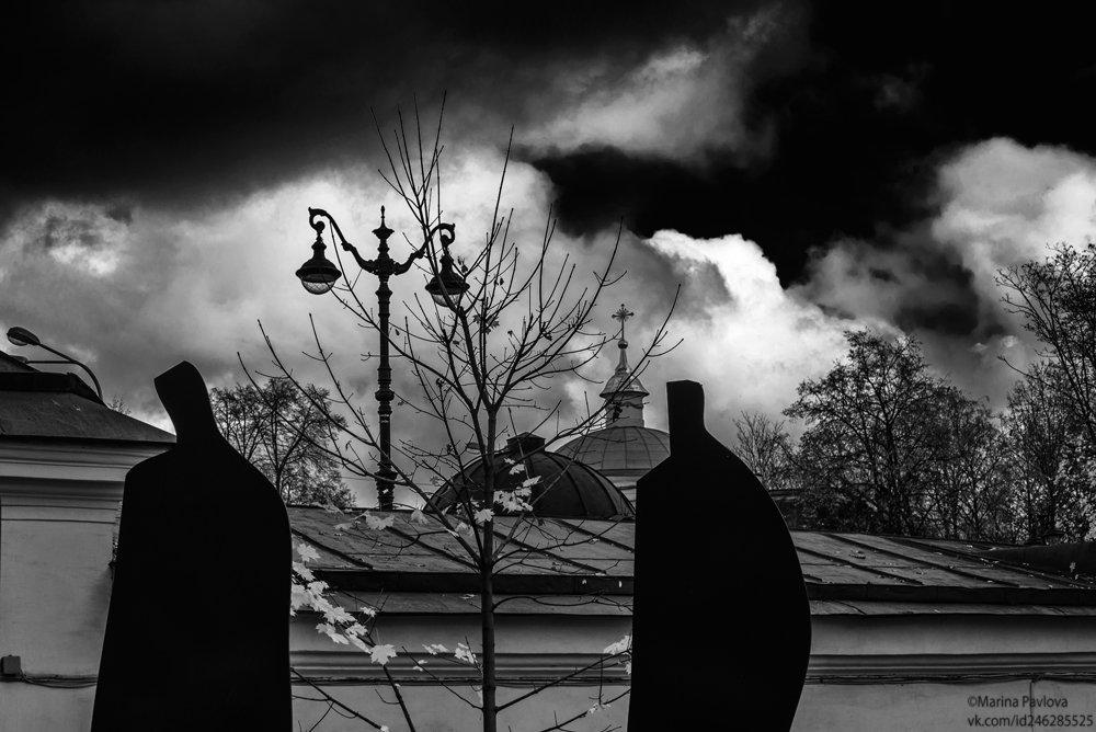 город, петербург, музей городской скульптуры, чёрно-белое фото,чб фото, Павлова Марина