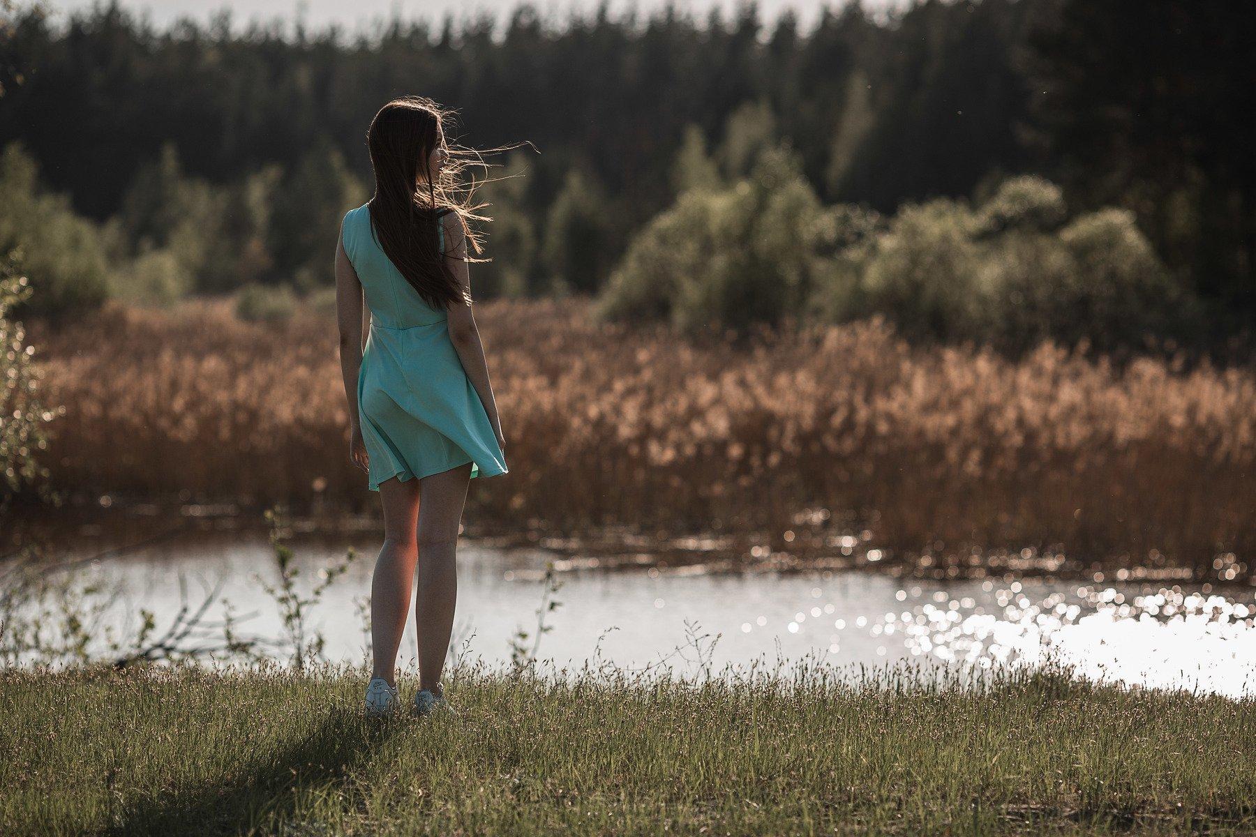 девушка, модель, портрет, фотосессия, природа, весна, день, ветер, солнце, girl, model, portrait, photo, nature, day, spring, wind, sun, Васильев Владимир