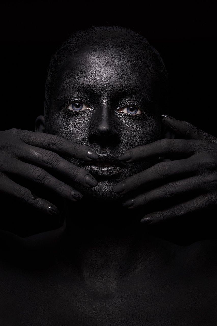 черный, цвет, маска, космос, будущее, огонь, взгляд, девушка, , Комарова Дарья