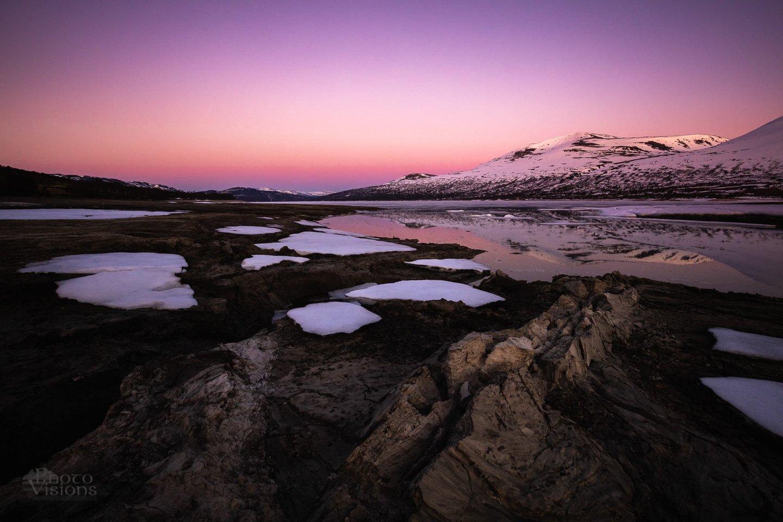 trollheimen,gjevilvatnet,norway,norwegian,nature,mountains,sunset,pink,reflections,ice,snow,spring,, Szatewicz Adrian