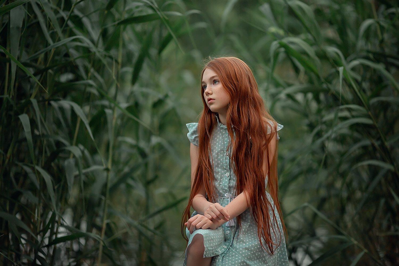 камыши, девочка, портрет, рыжая девочка, рыжие волосы, Екатерина Белоножкина