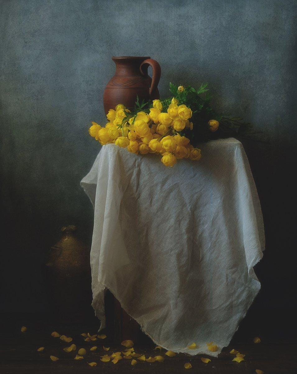 натюрморт,цветы,весна,купальница европейская,  Наталия К