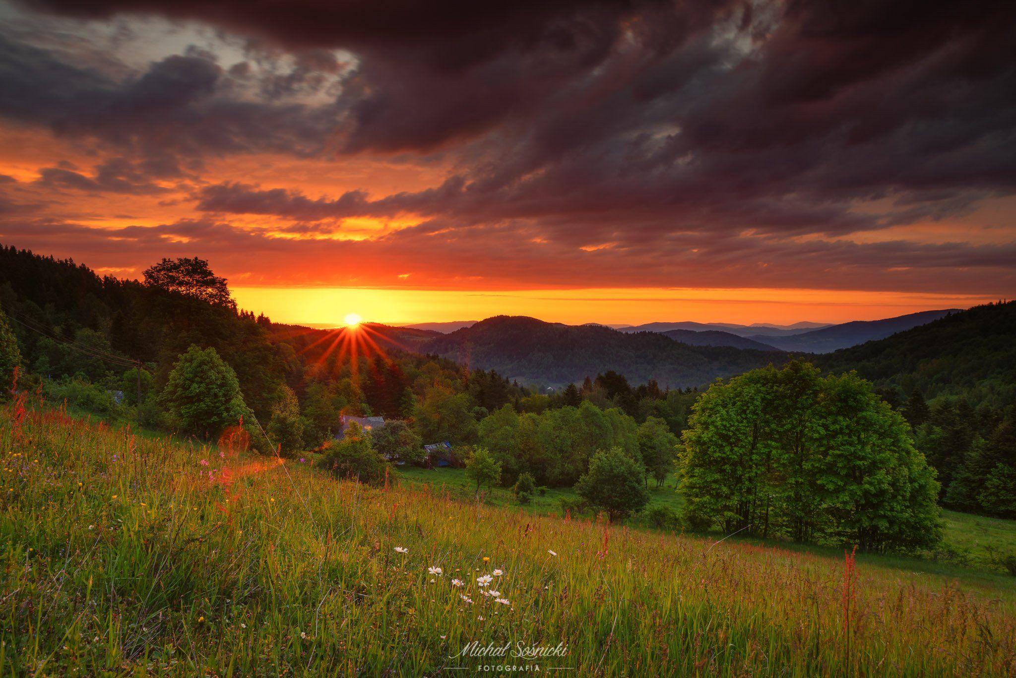 #spring #sun #sunrise #poland #morning #nature #landscape #pentax #benro, Sośnicki Michał