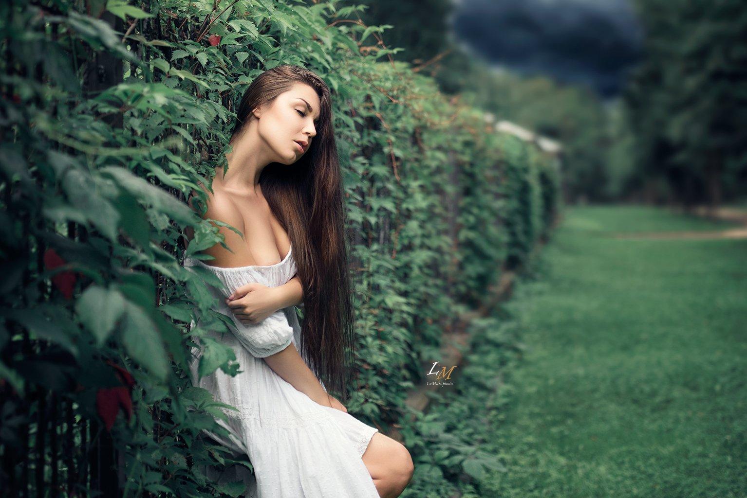 пленэр, лето, девушка, в белом, парк, москва, фотограф, арт, Маркачев Леонид