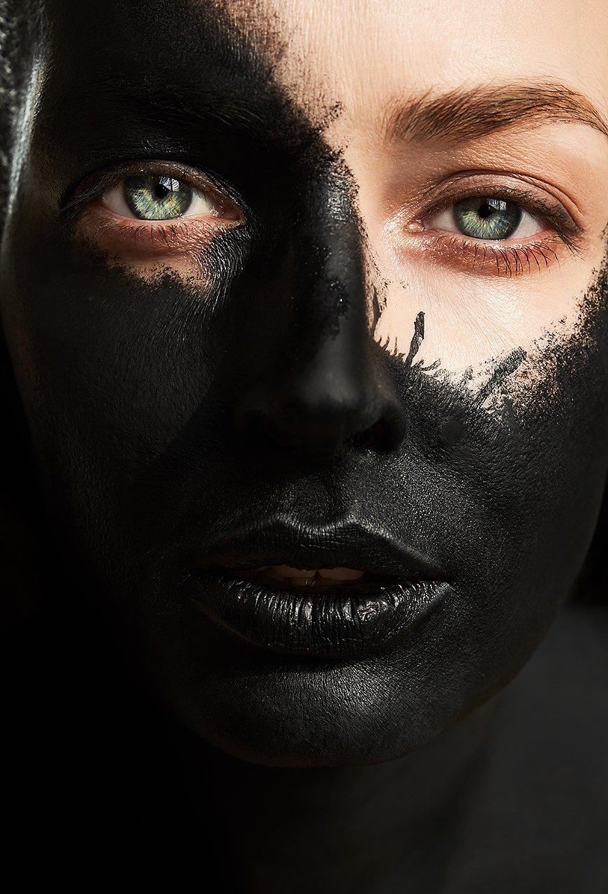 черный, цвет, маска, космос, будущее, взгляд, девушка, вирус, Комарова Дарья