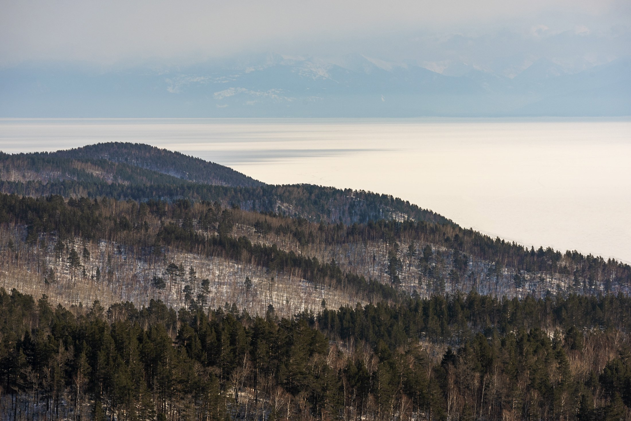 Байкал, сопки, весна, Владимир Штыриков