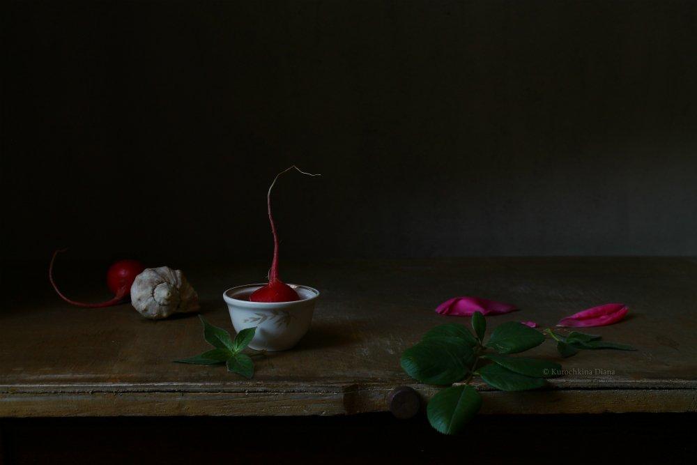 натюрморт, редис, розовый, Курочкина Диана