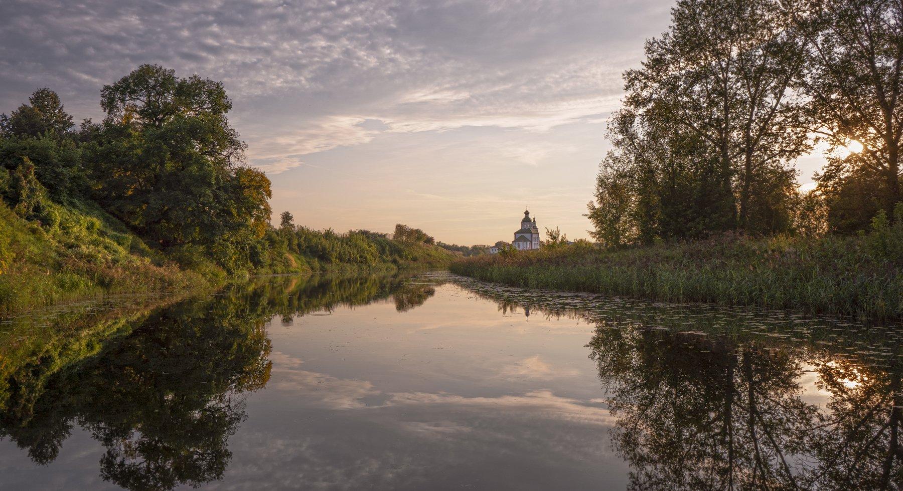 суздаль, река каменка, август, вечер, Колесов Андрей