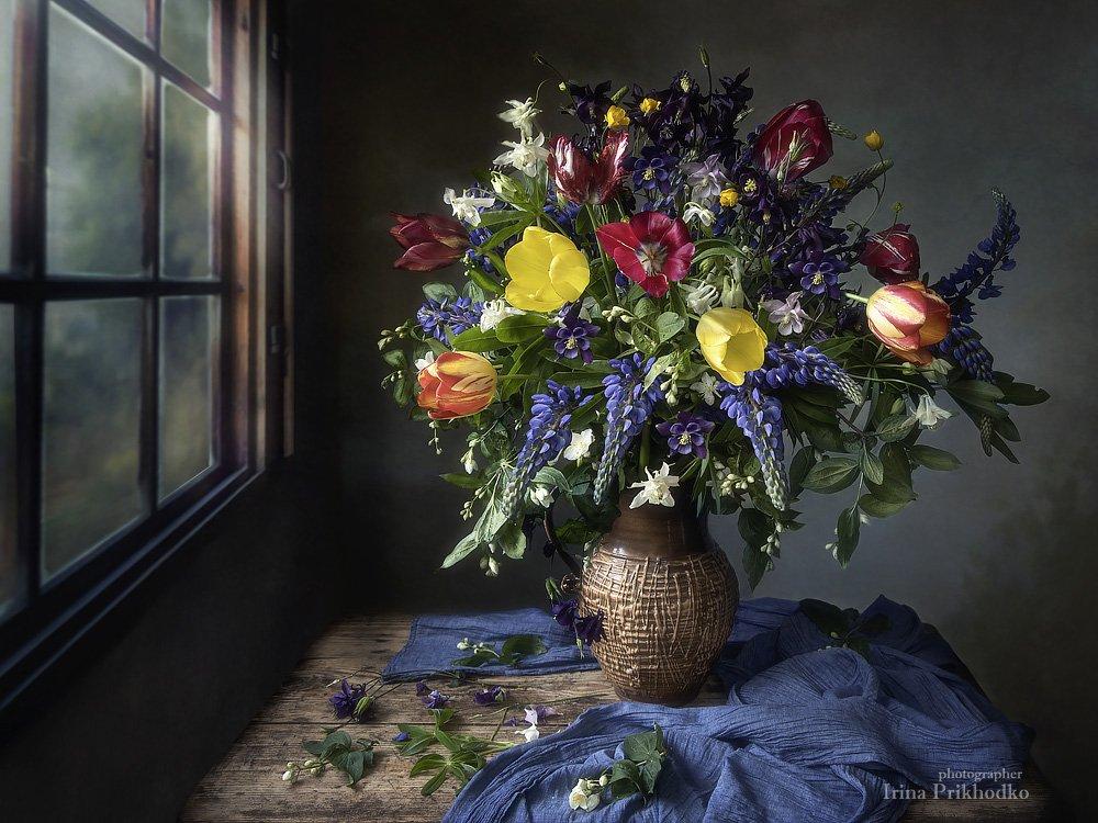 натюрморт, лето, цветы, винтажный, деревянный, букет, художественное фото, Приходько Ирина