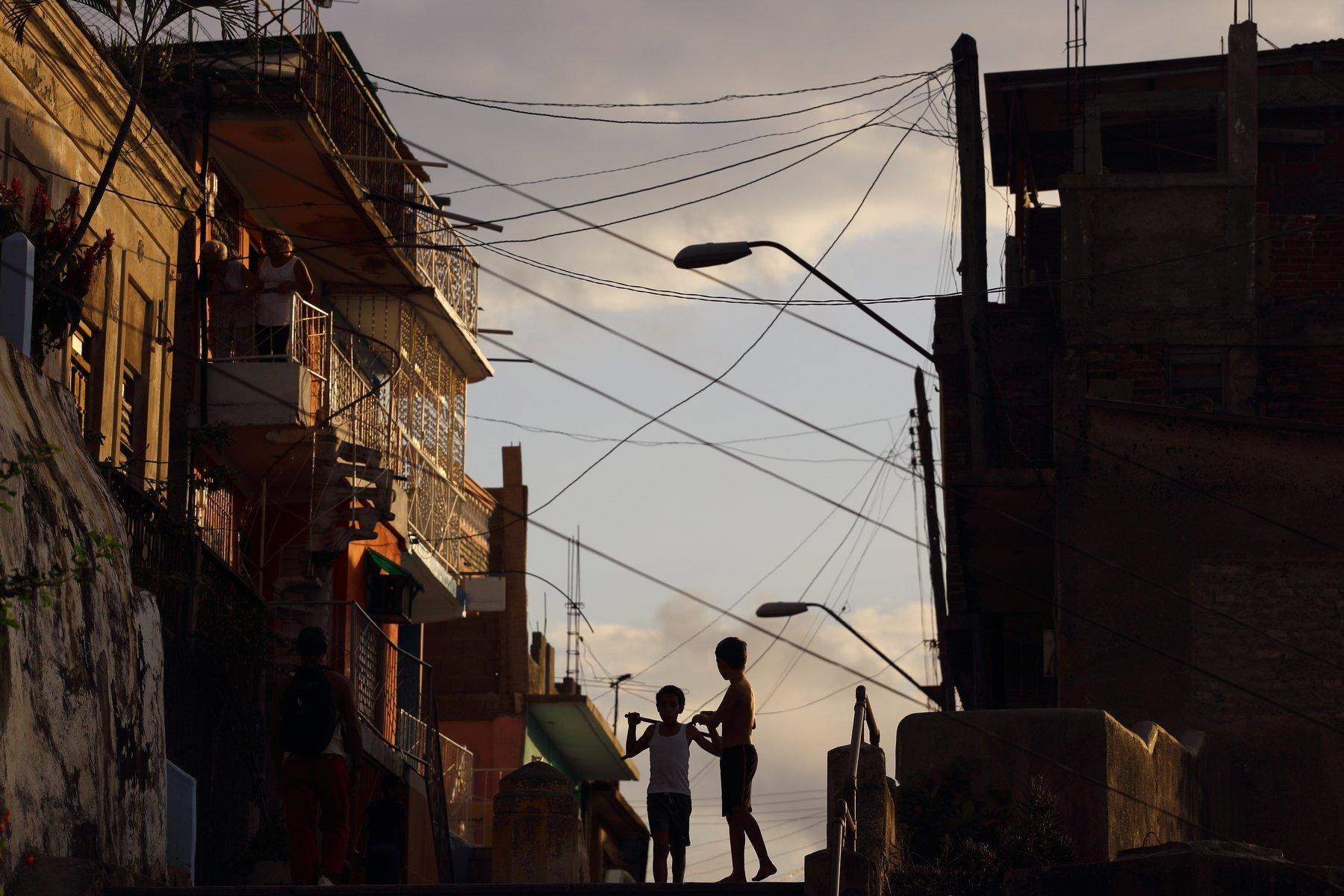Гавана, Сантьяго, Сантьяго де Куба, силуэт, тень, Куба, улица, Usoltceva Anastasiia