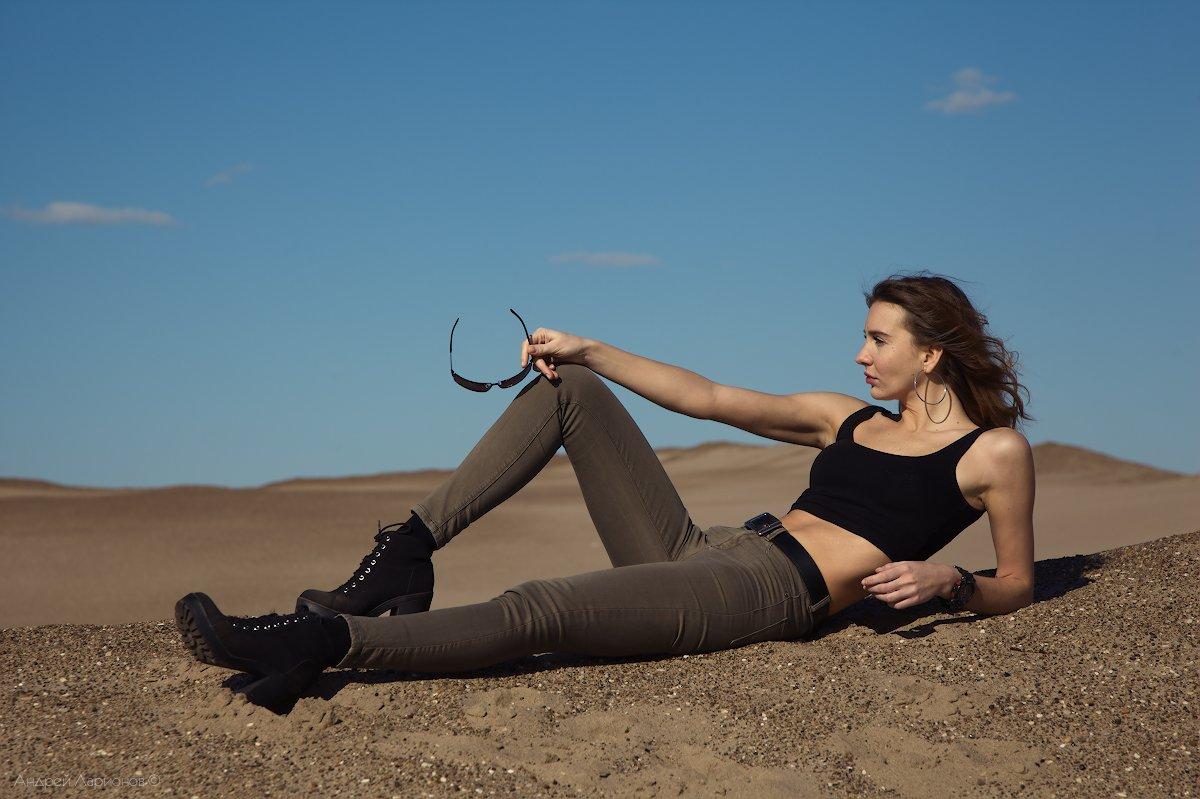 девушка,песок, Андрей Ларионов