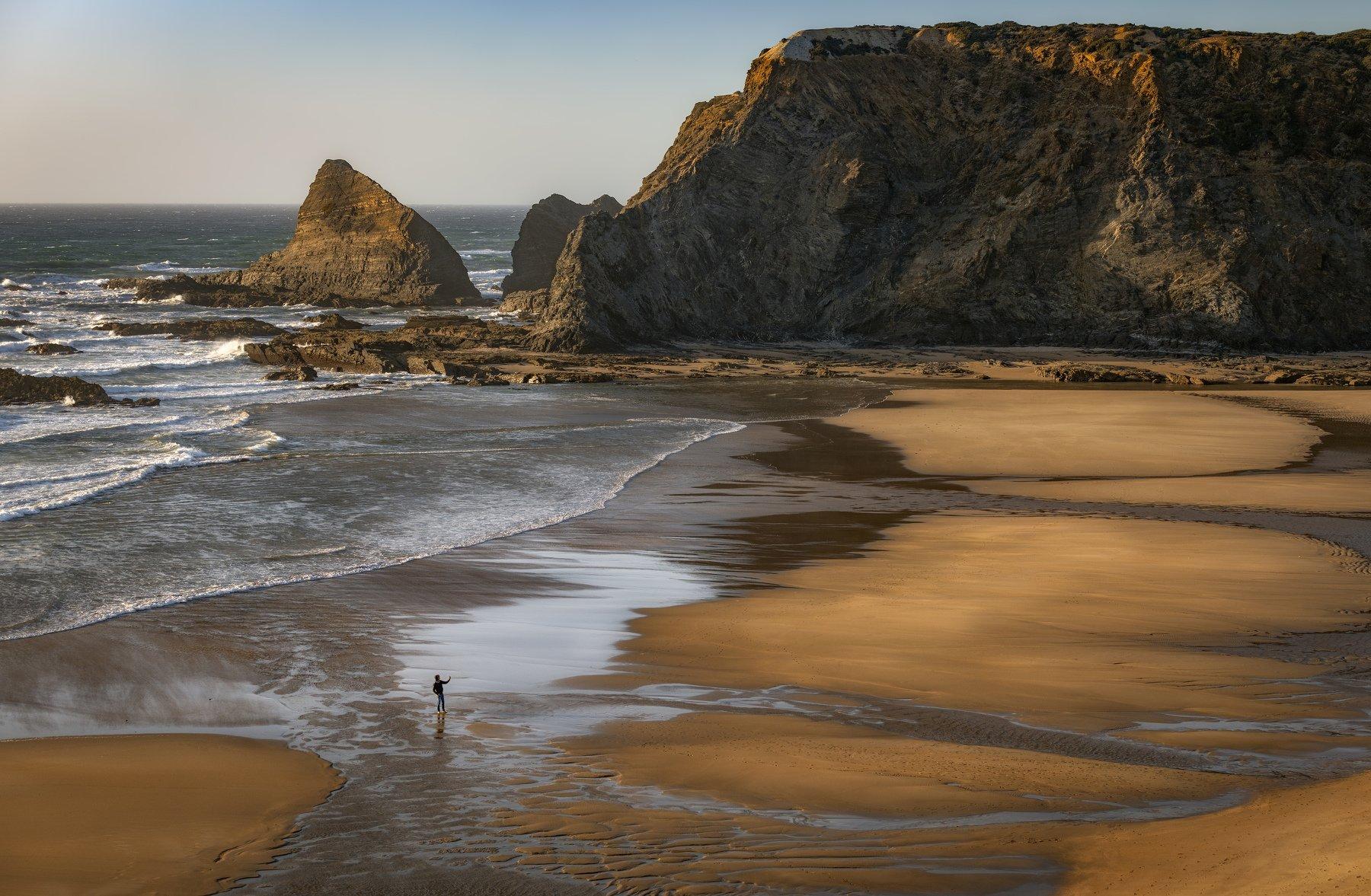 пляж, океан, человек, Alexandr Bezmolitvenny