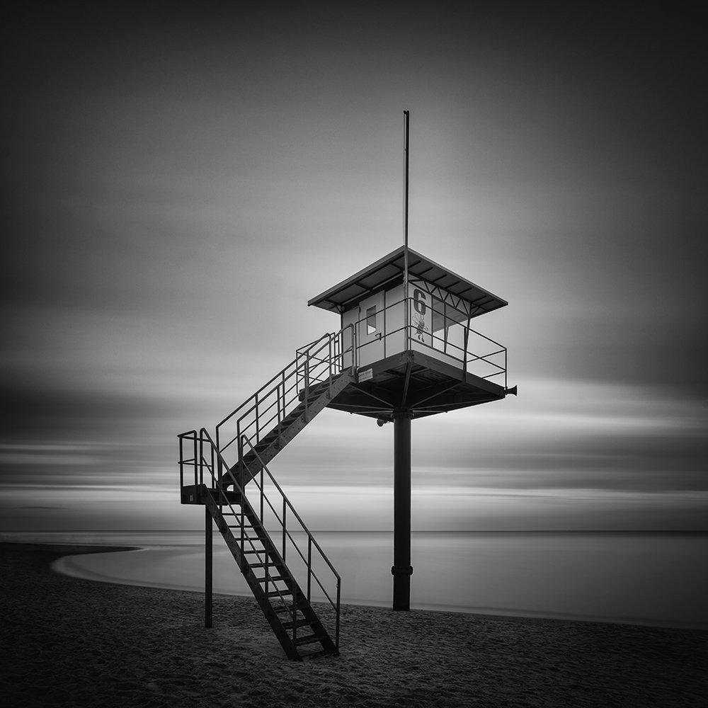 long exposure, sea, baltic sea, b&w, landscape, seascape, Tichý Ondřej
