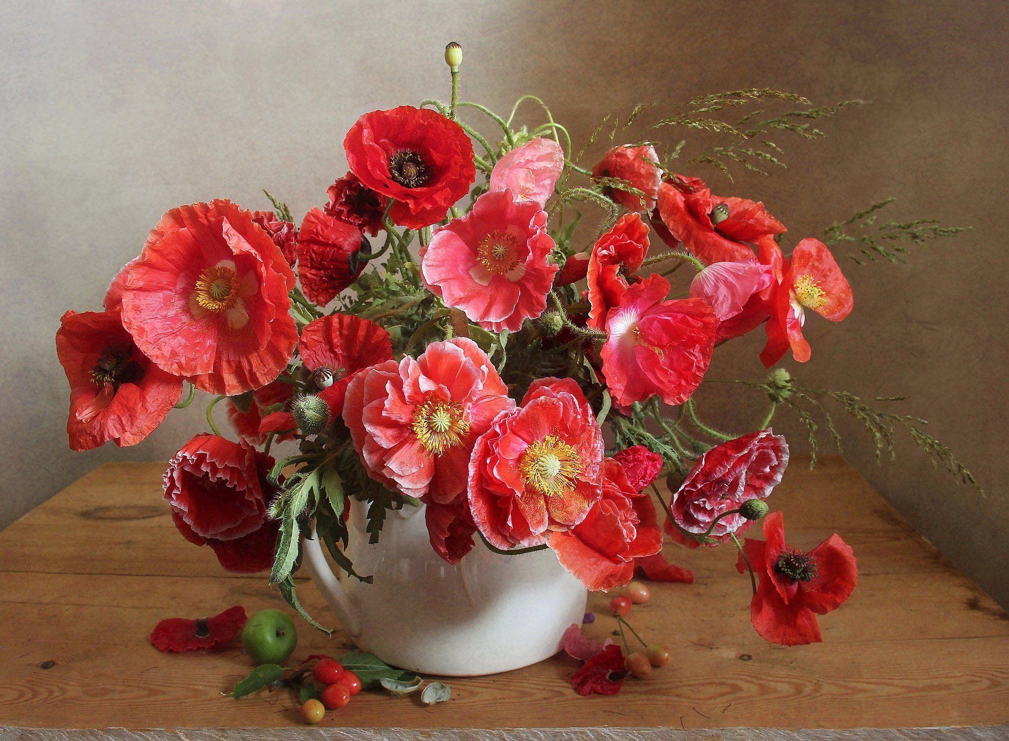 лето,  цветы, натюрморт, марина филатова, маки, Филатова Марина