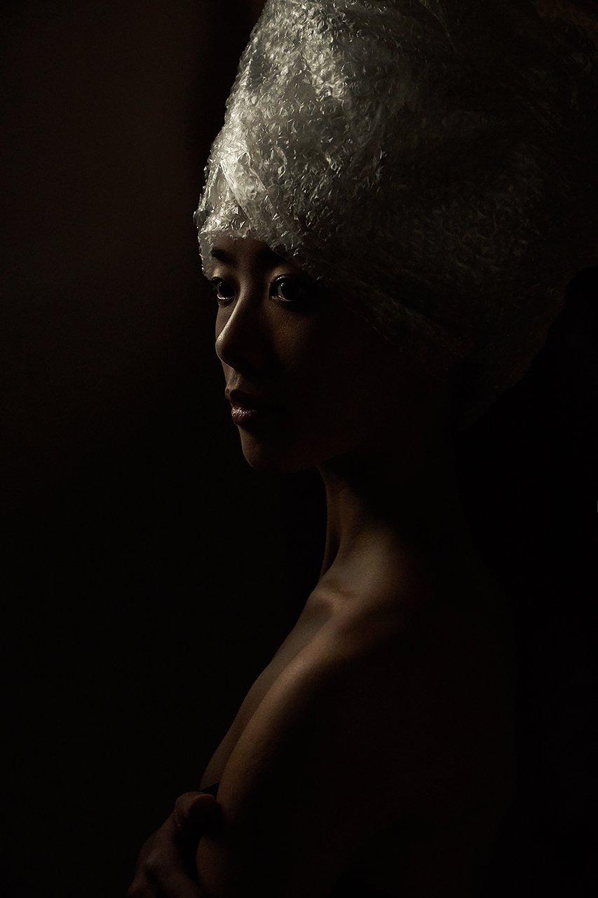 Нефертити, пленка, пластик, концепт, профиль, девушка, балерина , Комарова Дарья