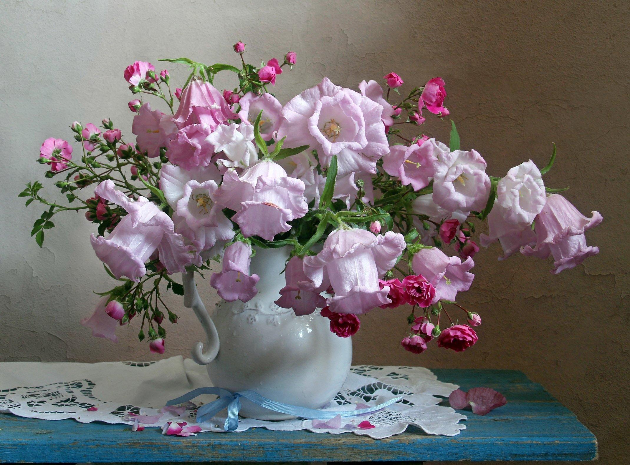 лето,  цветы, натюрморт, колокольчики, марина филатова, Филатова Марина