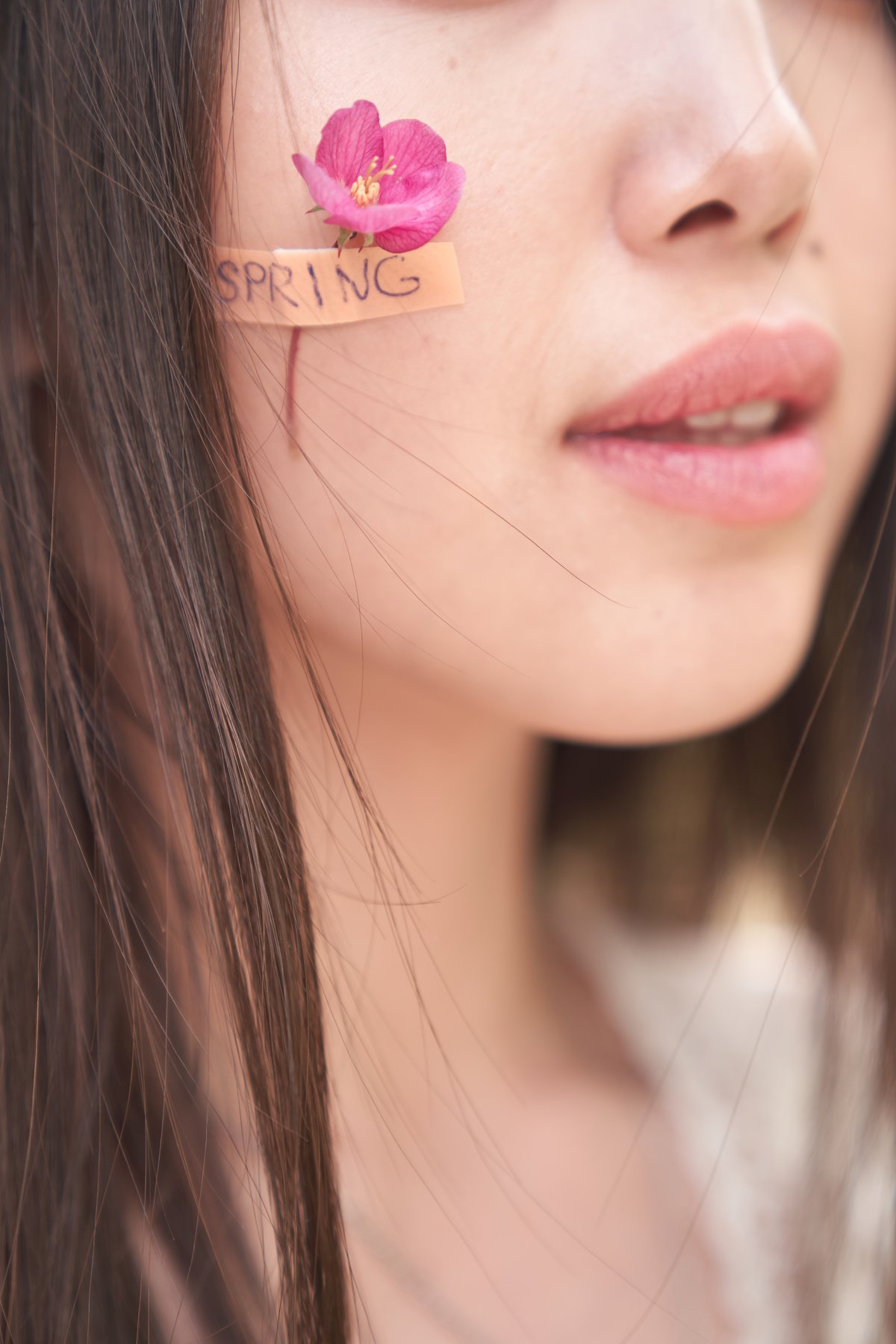 яблоня, весна, цветок, лейкопластырь, губы, розовый, Комарова Дарья
