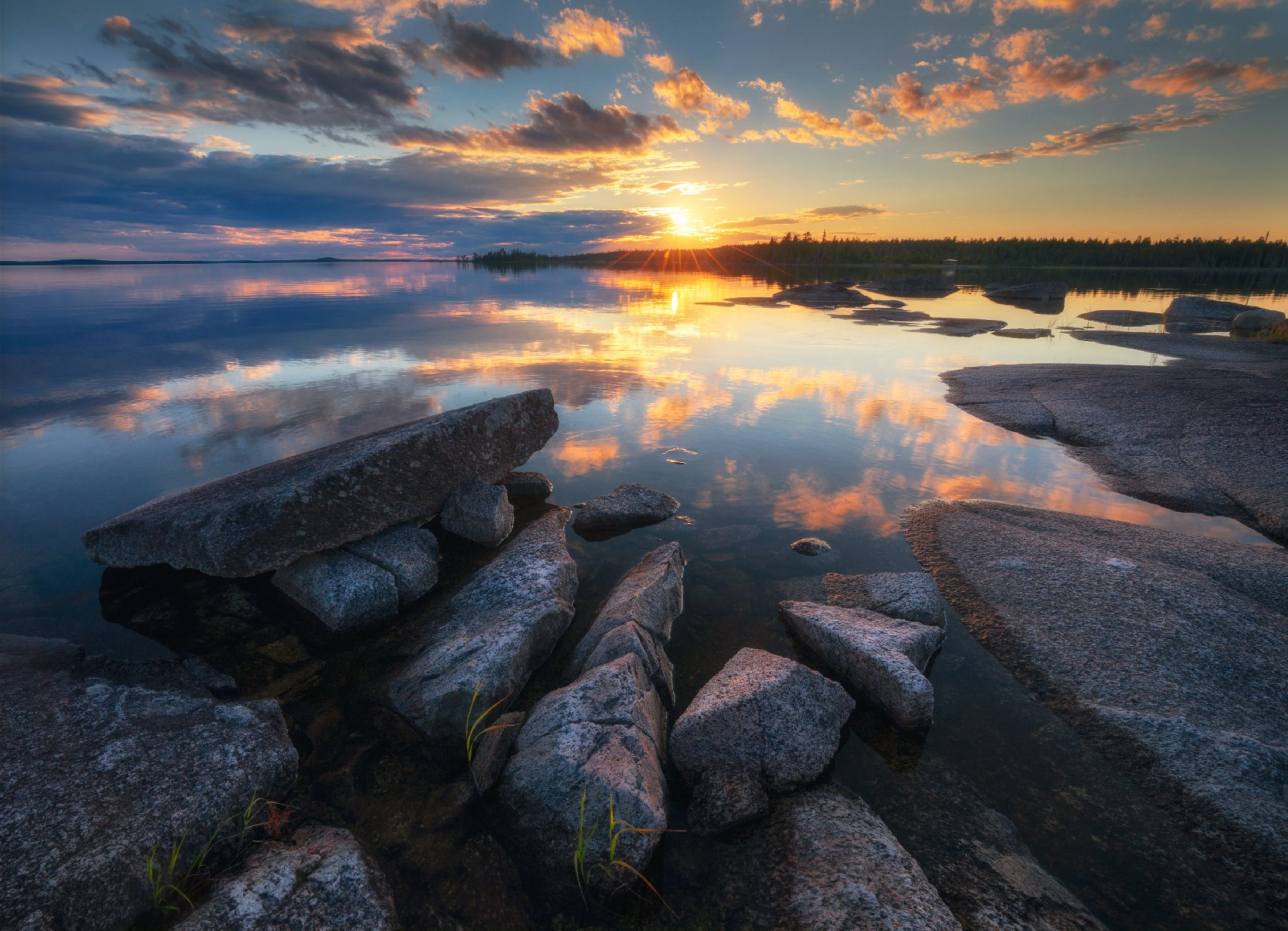 карелия, север, топозеро, закат, Сергей Луканкин