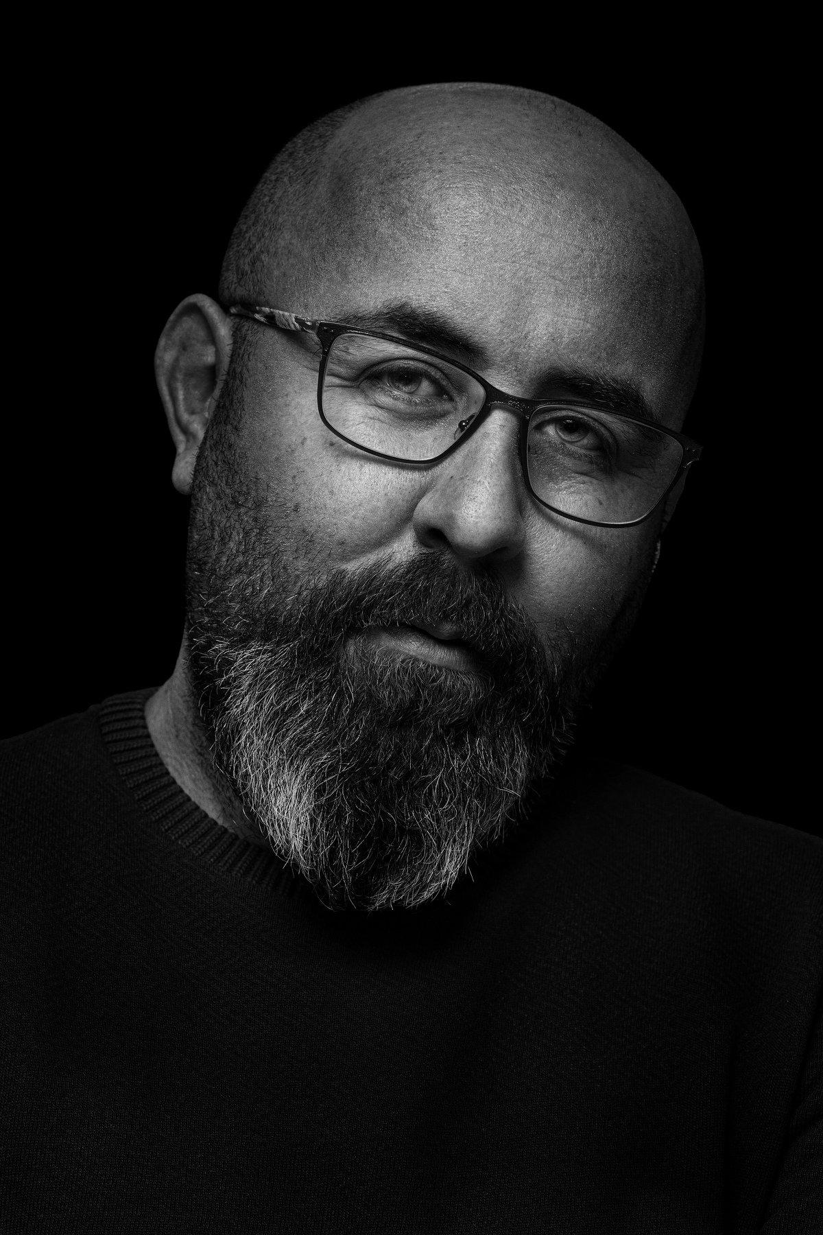 portrait, face, glases, blackandwhite, Андрей Любицкий