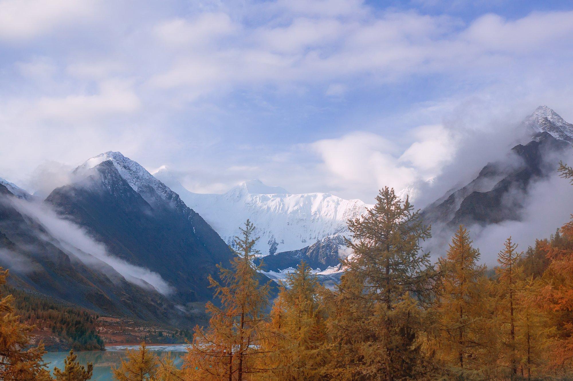 гора, ледник,белуха, горныйалтай, осень, туман,, Кузнецов Сергей