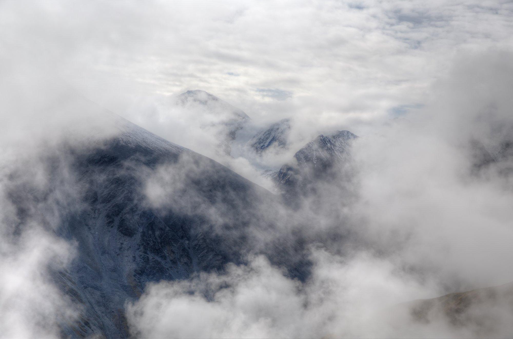 перевал, облака, туман, горы,, Кузнецов Сергей